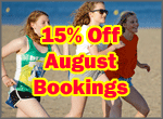 15% Off August Bookings